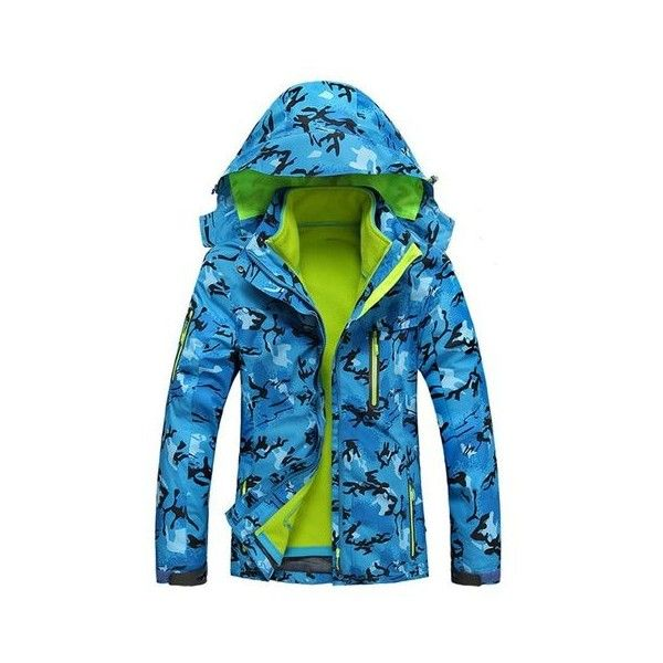 Women Loose Camouflage Waterproof Windproof Hooded Jacket ($78) ❤ liked on Polyvore featuring outerwear, jackets, sky blue, women plus size outerwear, camouflage jacket, plus size waterproof jacket, plus size jackets, plus size camo jacket and waterproof hooded jacket