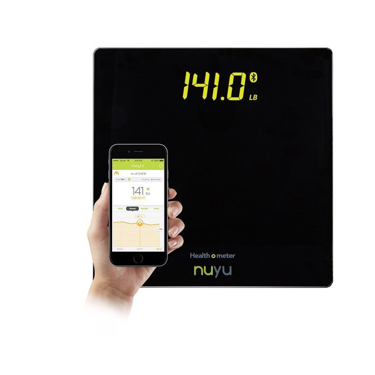 Health o meter nuyu Wireless Connected Scale with Auto-Pairing, BMI Tracking and Disappearing LED Screen, Black *** You can find out more details at the link of the image.