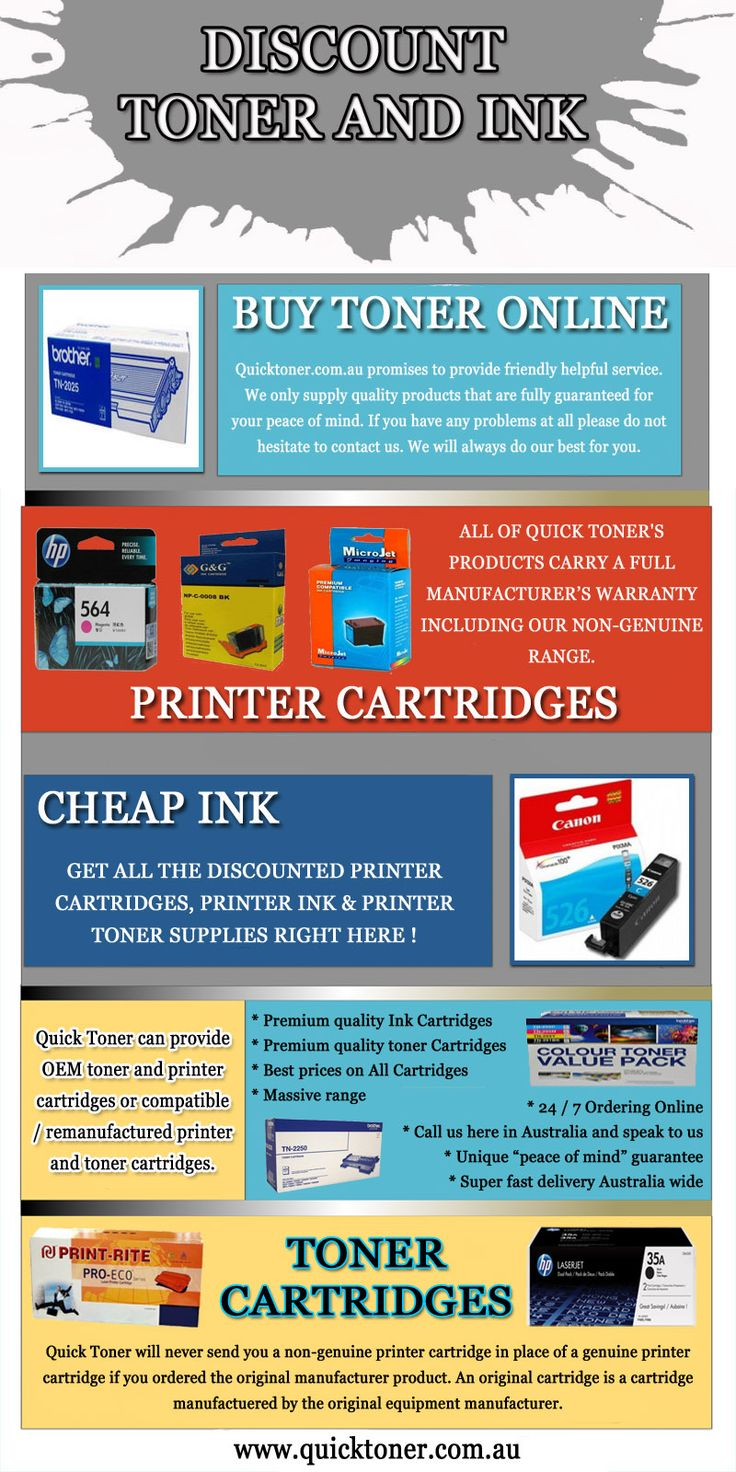 Try this site http://quicktoner.com.au/ for more information on Toner Cartridges. There are basically two types of ink Toner Cartridges. The first one is the one that comes from the manufacturer of the printer. These carry the brand of the printer that you are using. The other one is the refilled one. Of course, this no longer comes from the manufacturer but just the same, it can be used on your printer. There is however a big difference between the two.
