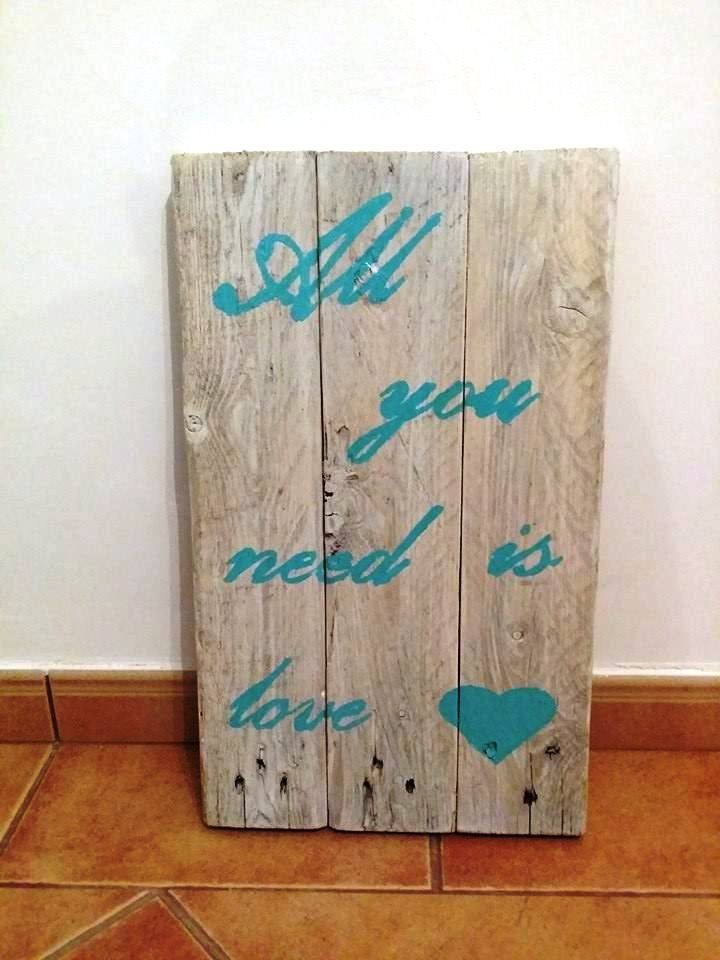 custom wooden pallet wall art sign
