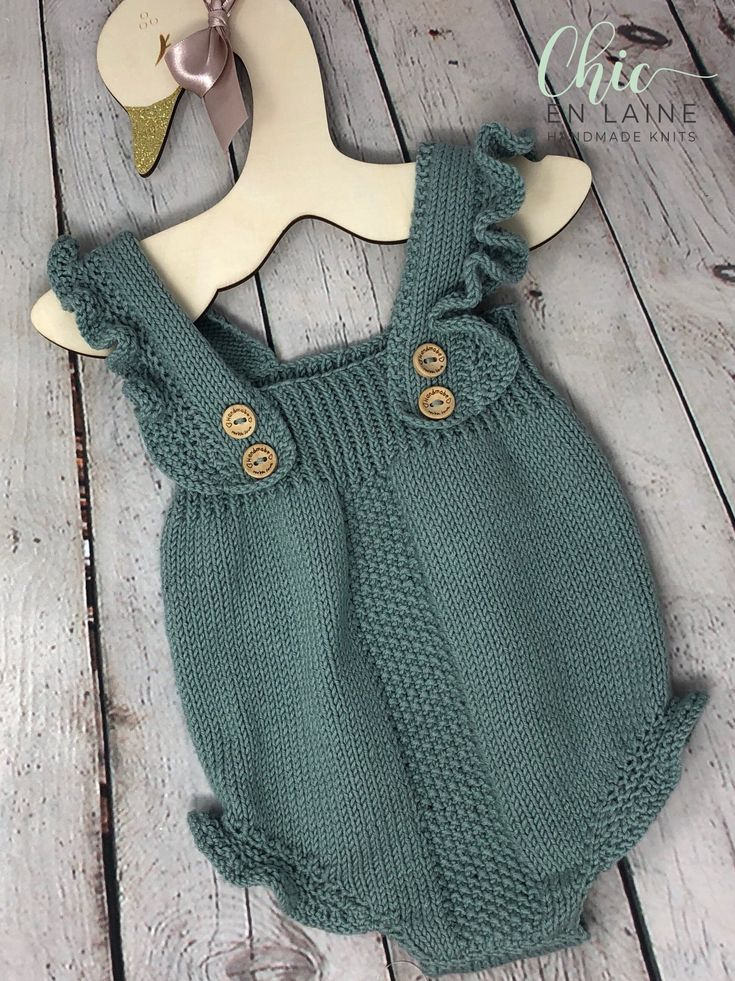 Baby Romper Knitted Baby Clothes Baby Outfit Baby Gift Sweater Knitted Baby Dungaree,Cardigan and Beret Gender Neutral Unisex Baby
