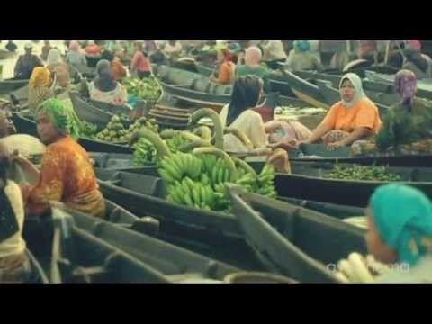 Pasar Terapung Kalimantan Selatan, Indonesia.
