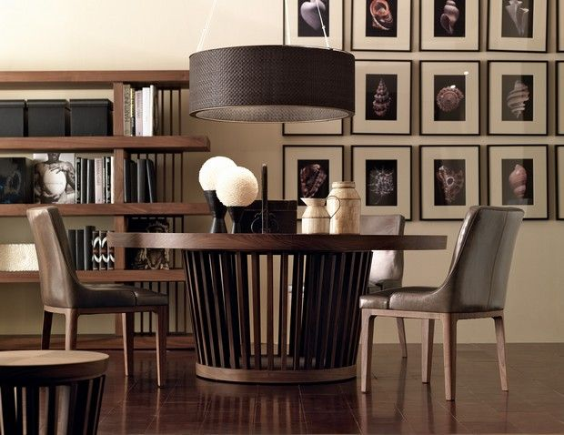 Wooden dining tables for contemporary home,  as a place where the game of finding the balance between intimacy and luxury home decor is played out.