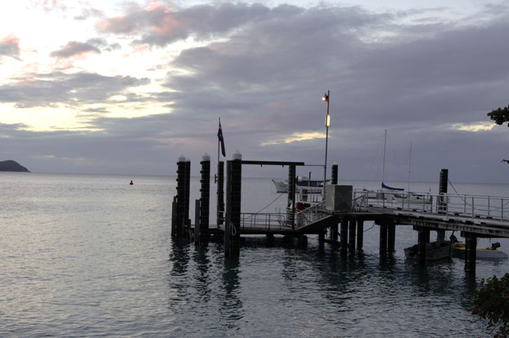 The pier just before sunset