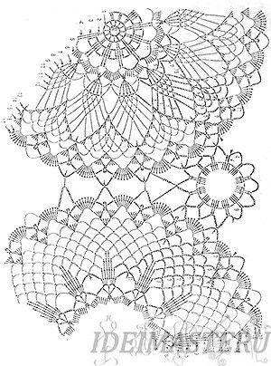 Размер Салфетки, Crochet Motif