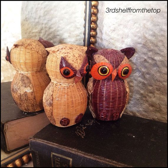 2 Owls Basket Work Containers
