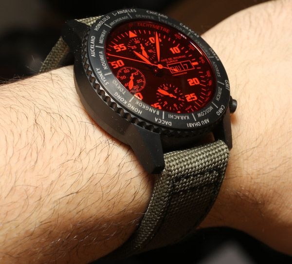 Maurice de Mauriac Chronograph Modern Travel Timer Watch Review Wrist Time Reviews