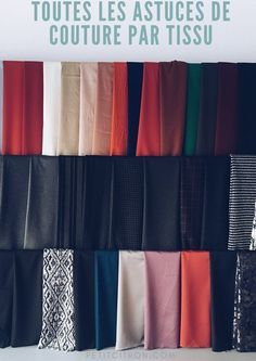 Astuces de couture par tissu Pour quels tissus aimeriez vous avoir des conseils?