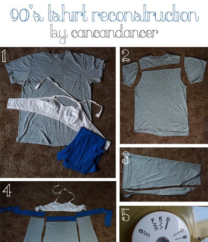 DIY 90′s T-shirt Reconstruction