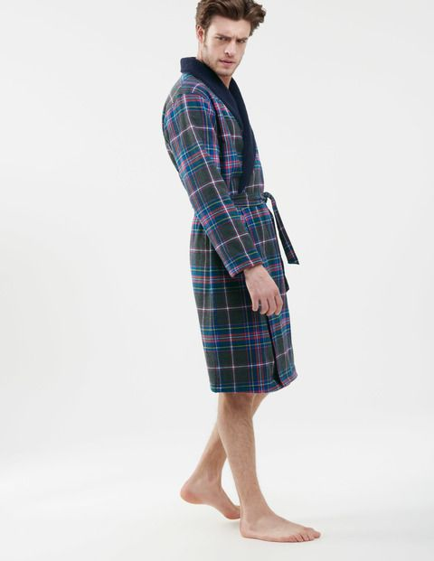 Brushed Cotton Dressing Gown MB133 Loungewear at Boden - You've got to always look stylish, even when no-ones looking!