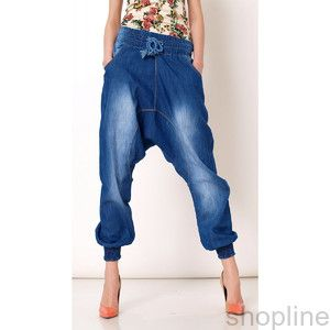 Jeansy szarawary baggy spodnie