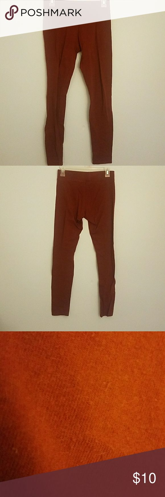 Vanity Maroon Leggings A bit see through. Good to wear under dresses and skirts. Very comfortable. Hardly worn. No wear and tear and in great condition. Vanity Pants Leggings
