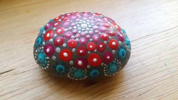Gift for the Home Mandala Stone Home Hearth Jewel by ArtsOfAnanda