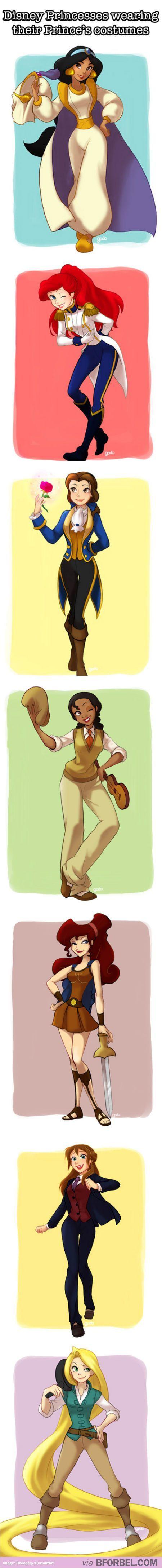 Gli Arcani Supremi (Vox clamantis in deserto - Gothian): Le Principesse Disney in abiti maschili