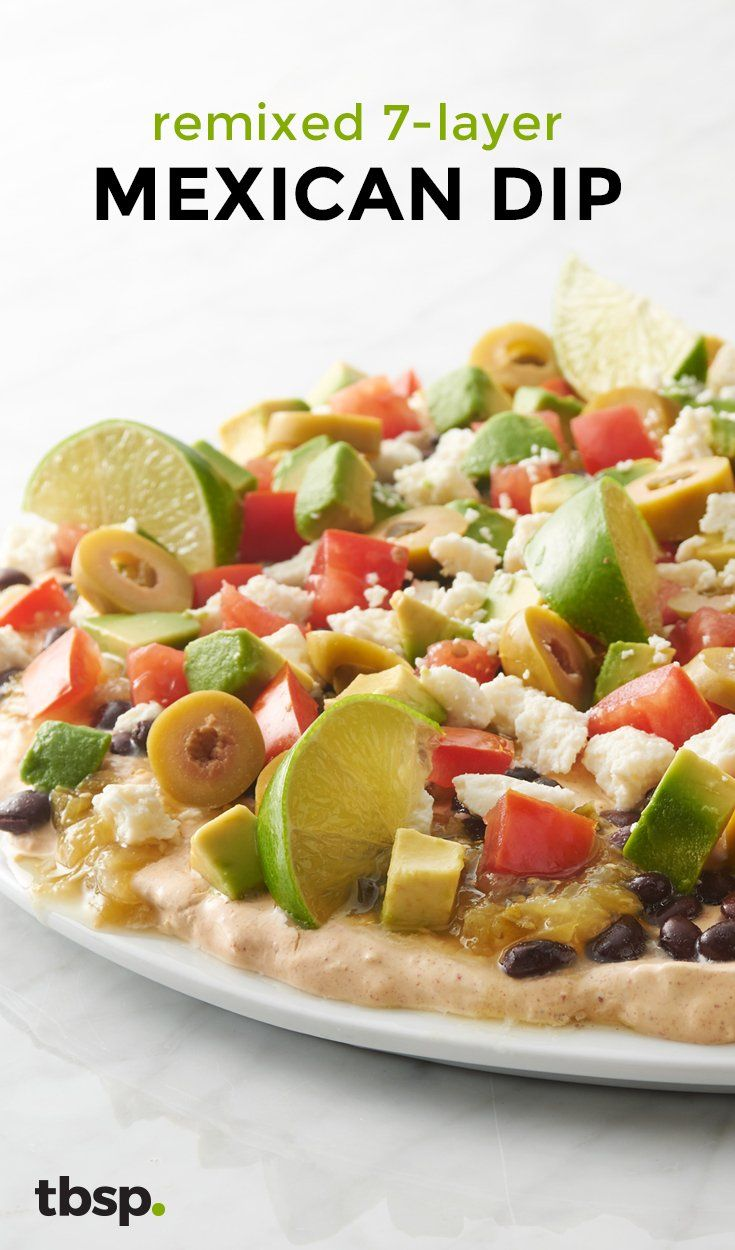 We reimagined seven-layer dip from the ground up, just for you! With every dip of your chip, you'll get a taste of seasoned cream cheese, black beans, salsa verde, queso fresco, jalapeño-stuffed olives, fresh tomato and diced avocado. Pro tip: A generous squeeze of lime at the end is the perfect final touch to your new favorite dip.