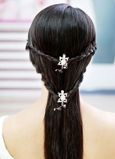 Two Braided Hair Lock