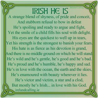The character of an Irish man