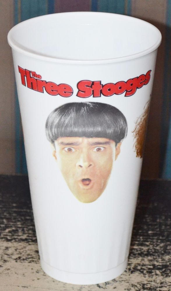 """THE THREE STOOGES Movie 2012 Plastic Theater Soda Cup 7"""" Tall Souvenir Collector"""