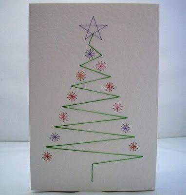 Skapeglede: Julekort. Tegn et juletre. Enkelt. DIY