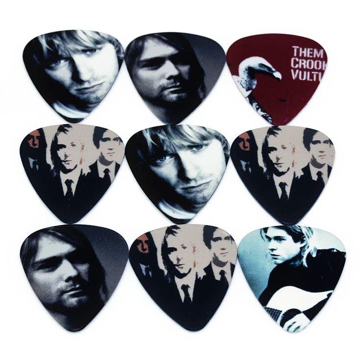 10 unids 0.71 mmguitar selecciones Nirvana RB dos laterales pendientes recoger DIY diseño accesorios de guitarra pick selecciones de la guitarra correa de la guitarra