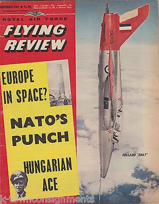 FJ-1 FURY CANADAIR CL41 ROYAL AIR FORCE FLYING REVIEW AVIATION MAGAZINE DEC 1961