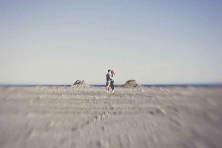 More Lensbaby and great location action.  Rugged desolate sea/ landscape with couple in the middle. By jenny Siaosi.