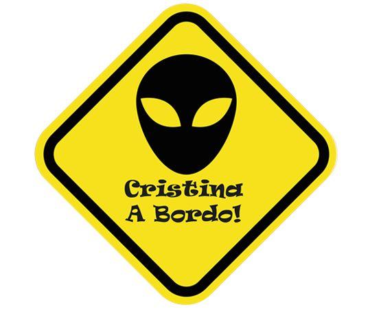 Pegatinas personalizadas para coche Alien a bordo