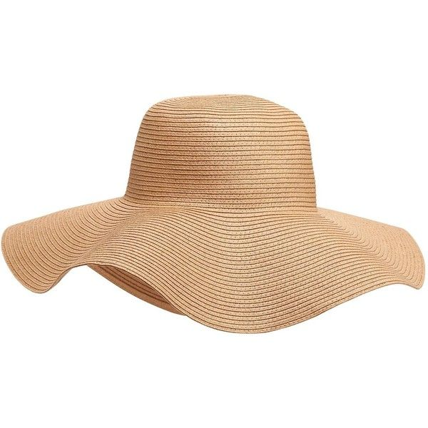 Old Navy Womens Floppy Straw Sun Hat ($20) ❤ liked on Polyvore featuring accessories, hats, flop hat, beach hat, straw sunhat, straw beach hat and old navy hats