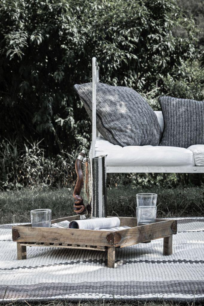 Barracan cushions, Chañar rug, Molinos jug