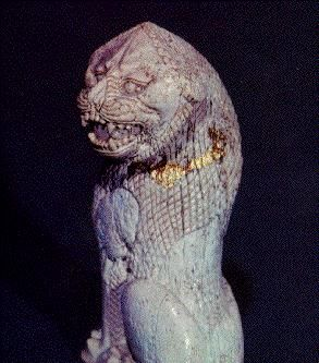 Seated  ivory  lion,from Urartian,Anatolia 8th cent.BC