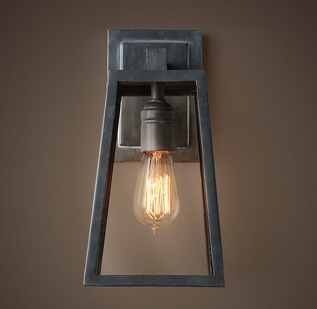 ambient lighting fixtures. RHu0027s Modern Filament SconceOur Streamlined Geometric Fixture Showcases The Luminescence And Amber Ambient LightHouse Lighting Fixtures E