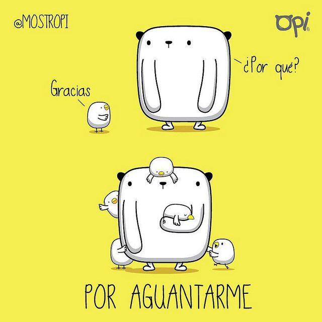 Gracias por aguantarme... #opi #kipi #cute #kawaii #mostropi #ilustración | por OSCAR OSPINA STUDIO