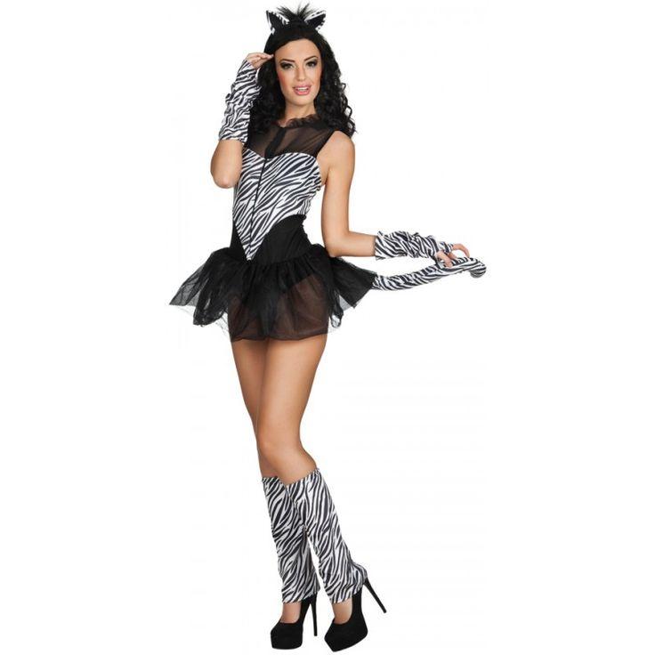 Sexy Zebra Lady Kostüm