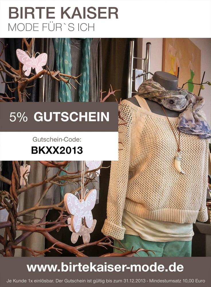 5% Gutschein! :-)