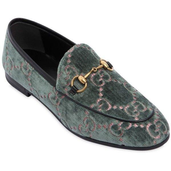 7da5ac369a8 Gucci Women 10mm New Jordan Gg Velvet Loafers (2