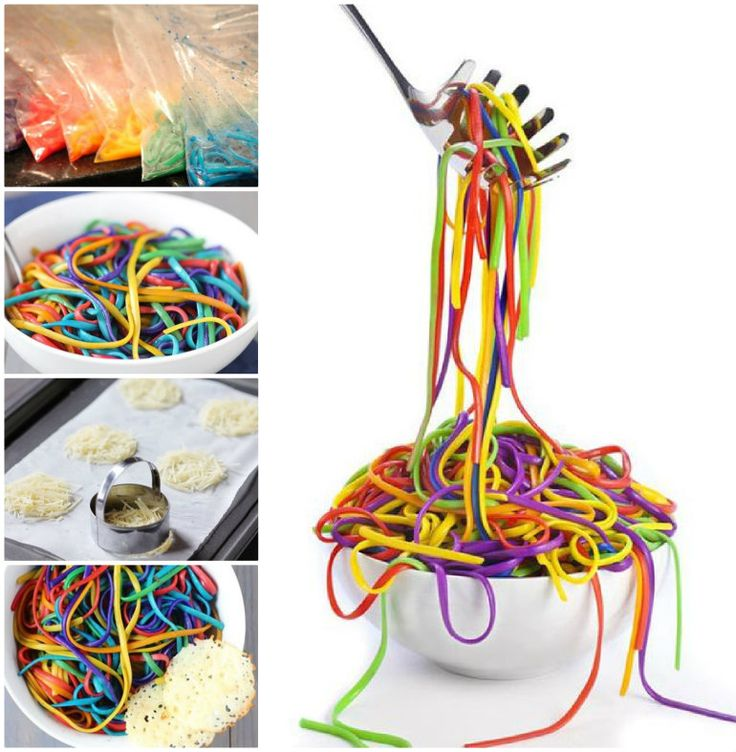 Rainbow Spaghetti!