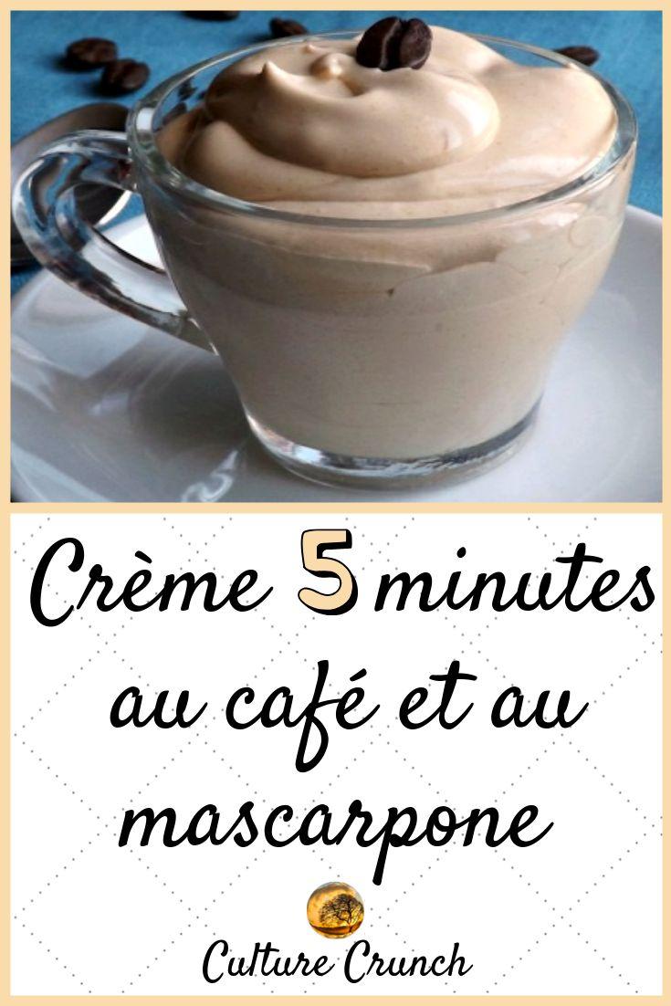 CRÈME 5 MINUTES AU CAFÉ ET AU MASCARPONE : la recette facile