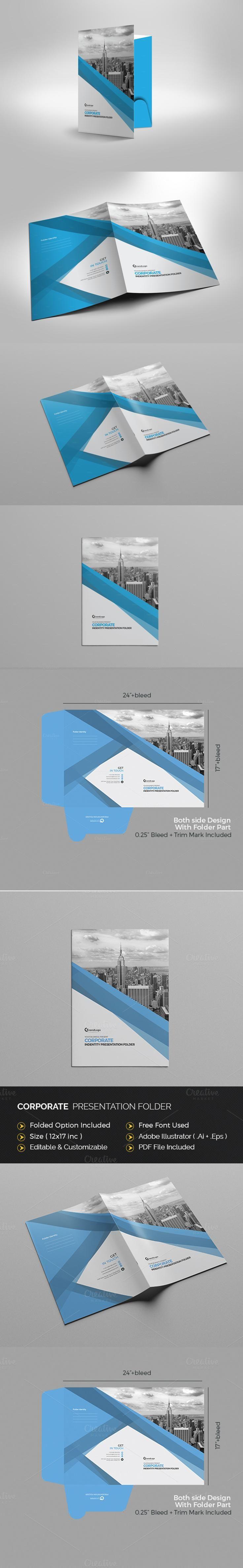 #folder #design from Cristal Pioneer   DOWNLOAD: https://creativemarket.com/Cristal_P/670156-Corporate-Presentation-Folder?u=zsoltczigler