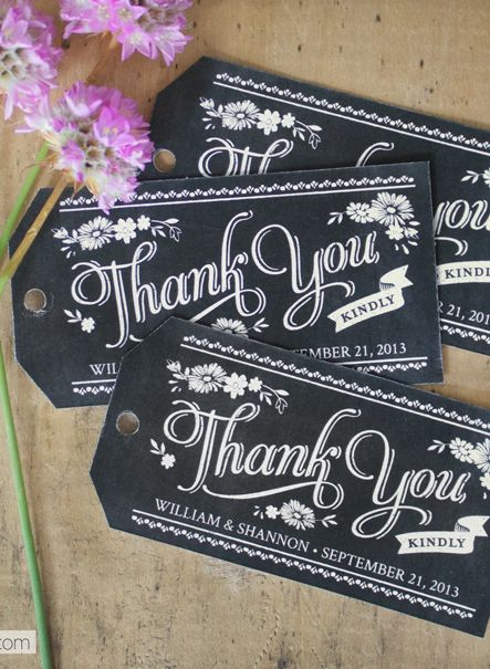 Free printable chalkboard style thank you gift tags which you can personalise