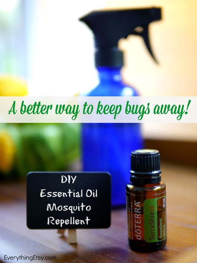 DIY Essential Oil Mosquito Repellent.  Rubbed onto the skin, this method did leave us mosquito bite-free for the evening. But, it did irritate the skin of one of our testers. So, use caution. Bottom line: This works.  Or you can use TerraShield with Coconut oil & spred on exposed body areas.