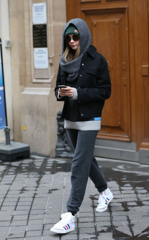 Cara Delevingne's sneaker style