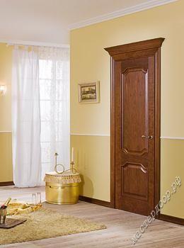 Межкомнатные двери Волховец, Decanto 5091 ДБК глухая , шпон дуб коньяк, фото двери в интерьере