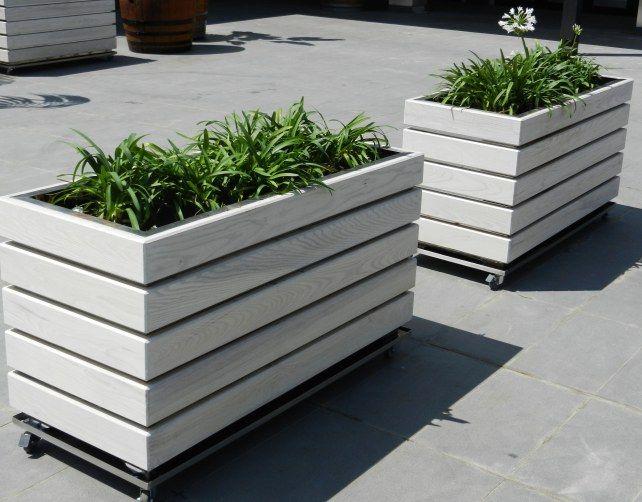 Modern Diy Wooden Planter Plans On Wheels Diy