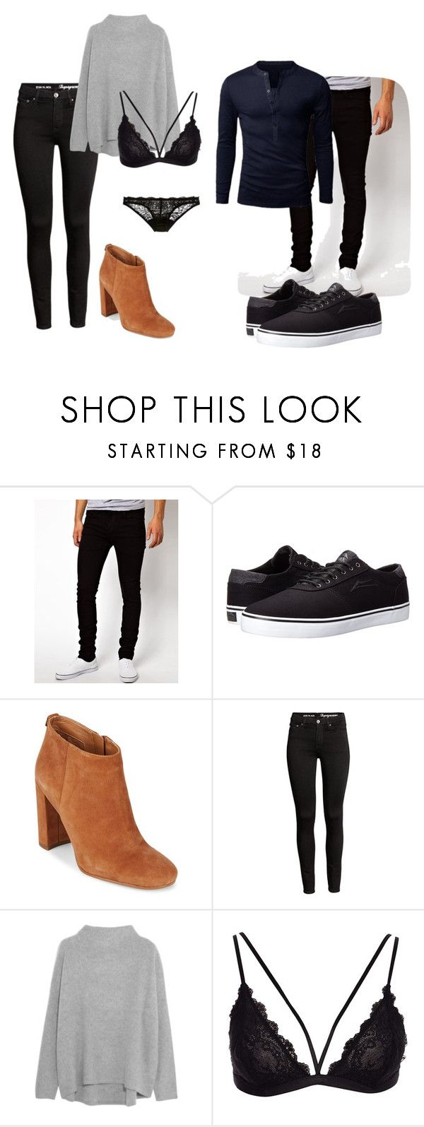 """Date"" by grraciie-386 on Polyvore featuring Dr. Denim, Lakai, Sam Edelman, Vince and Deborah Marquit"