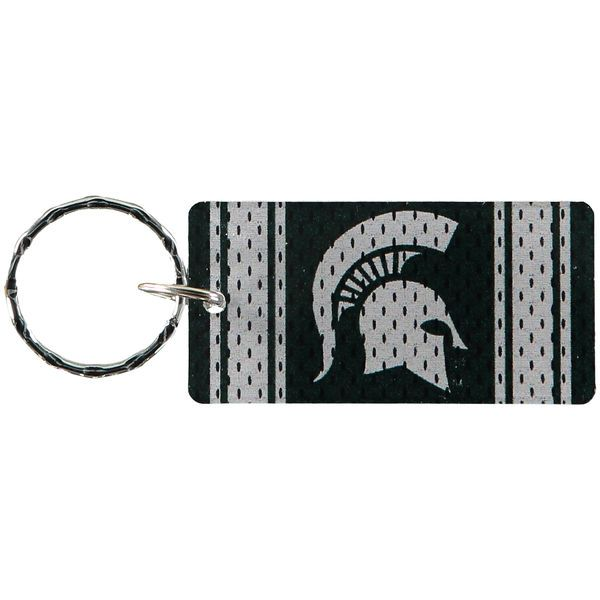 Michigan State Spartans Jersey Printed Acrylic Team Color Logo Keychain - $4.99
