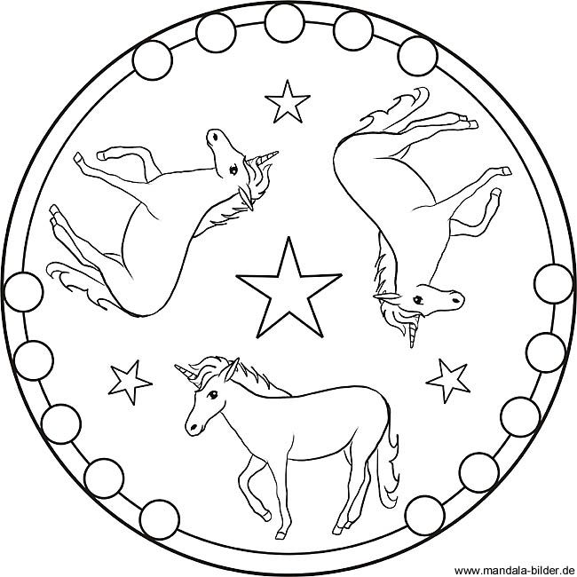 Malvorlage Mandala Einhorn Http Www Ausmalbilder Co Malvorlage Mandala Einhorn Mandala Color Decorative Plates