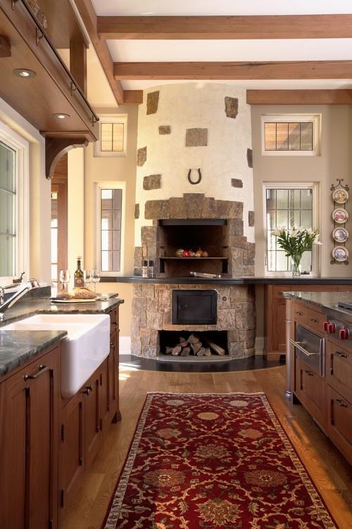 pizza oven in kitchen - This is for my husband. He insists we have a wood fire oven for piazza in our kitchen