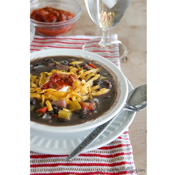 Black Bean and Ham Soup - South Beach Diet Phase 1 - Just omit the ...