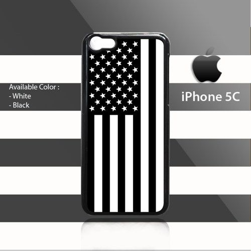 American Flag Black iPhone 5c Rubber Case Cover