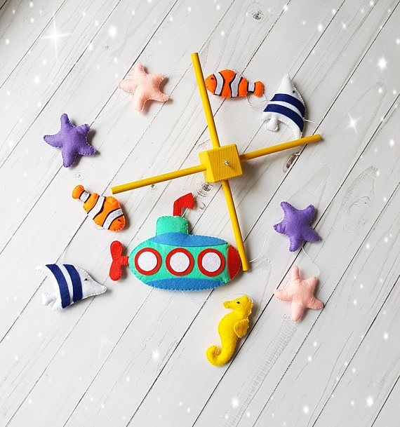 Submarine Ocean mobile Baby mobile Nautical mobile